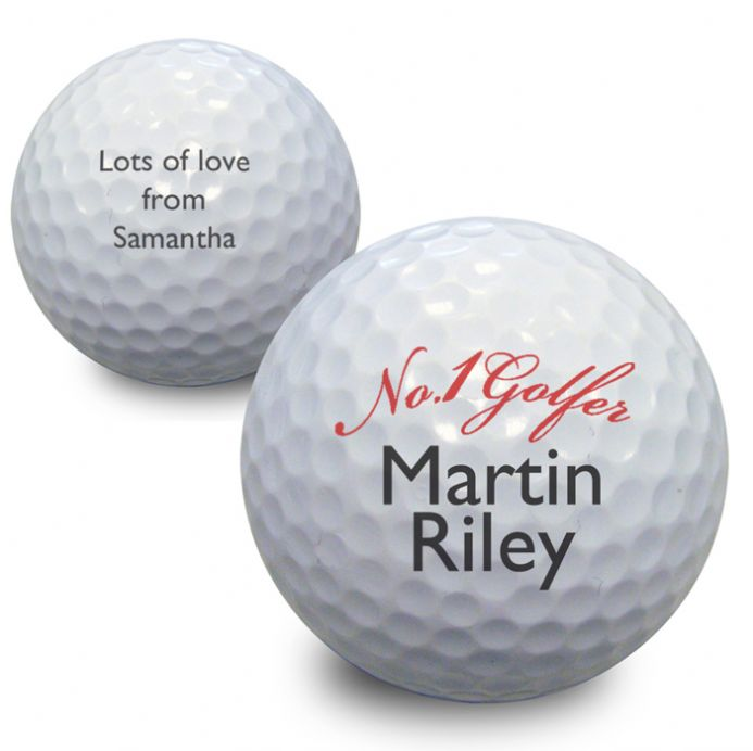 Personalised Golf Ball - No1 Golfer